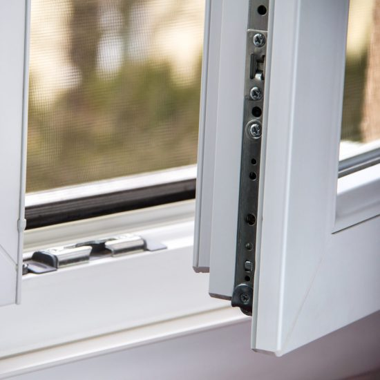 Secure anti-theft burglars-proof window locking mechanism – strong modern PVC metal window